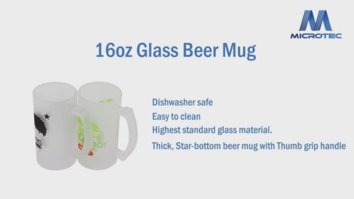 16oz 磨砂昇華玻璃啤酒杯