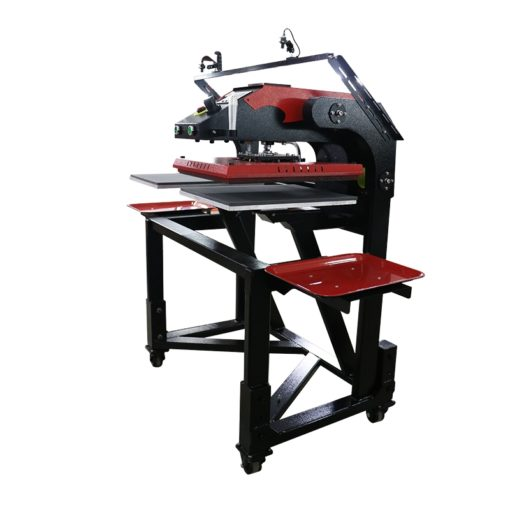 氣動雙工位穿梭熱轉印機,帶落地式紅外定位裝置