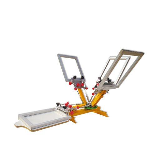 台式微註冊4色1站網版印刷機