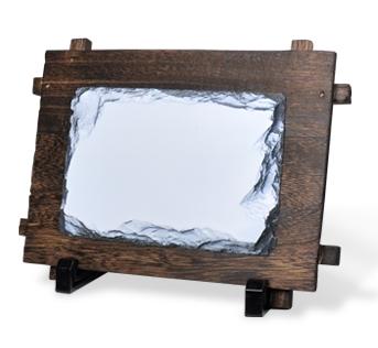 定制餐廳餐磐石板餐具圓形板岩奶酪板